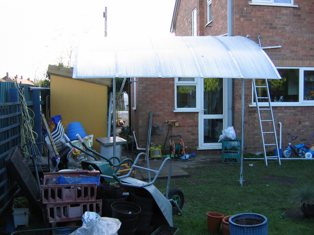 Homemade Quot Bus Shelter Quot Awning